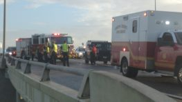 multiple car crashes on I37 and crosstown