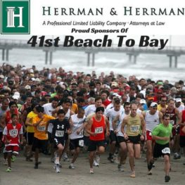 41st annual beach to bay sponsored by Herrman and Herrman