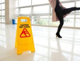 woman falling on property