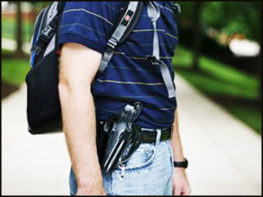 student with guns