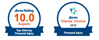 2016 avvo rating top attorney personal injury and clients choice awards