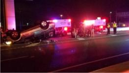single vehicle crash