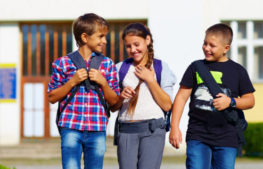 students get involved in national walk to school day