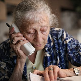 nursing home patient seeking help