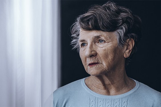 elderly woman suffering from neglect