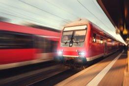moving light rail on tracks