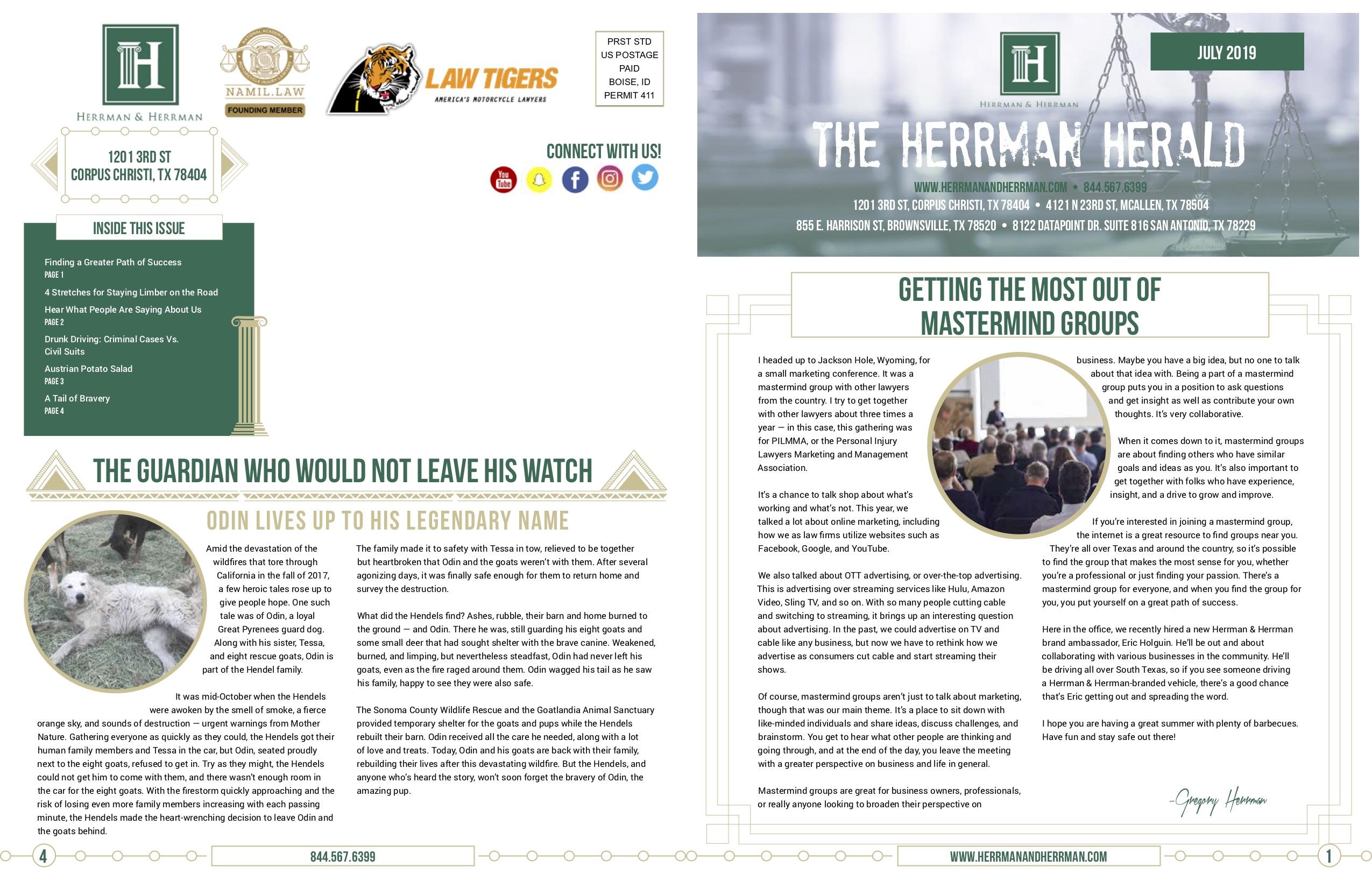 Herrman July Newsletter