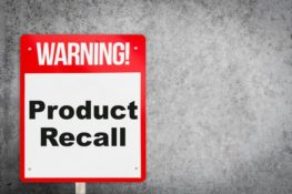 product recall warning sign
