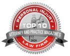 Top 10 Personal Injury Law Firms as designated by Attorney And Practice Magazine
