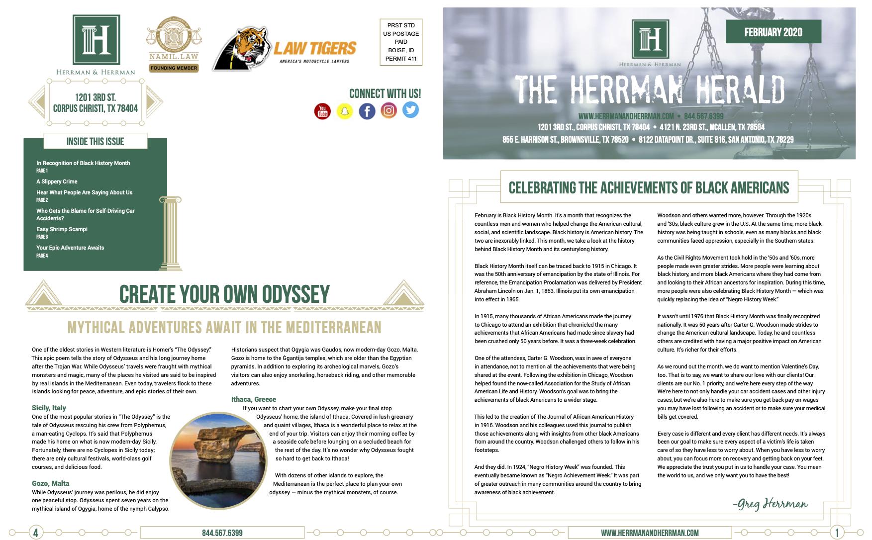 Herrman & Herrman Feb News
