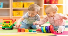 children playing in a daycare