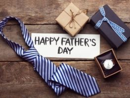 Tie and gifts for father's day