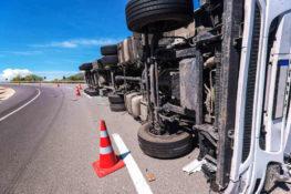 truck rollover accident in Brownsville TX
