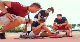 a woman got injured during a sport activity