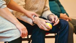 man in nursing home therapy