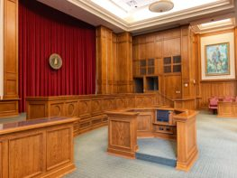 empty courtroom