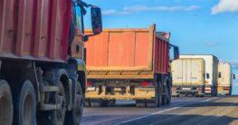 Dump Trucks on the road