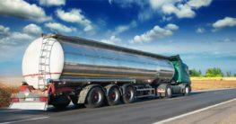 Oil Tanker Truck on the road