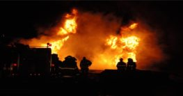 Oil Tanker Truck exploded after an accident