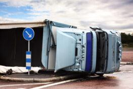 brake failure side down truck accident