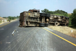 truck rollover accident in Texas